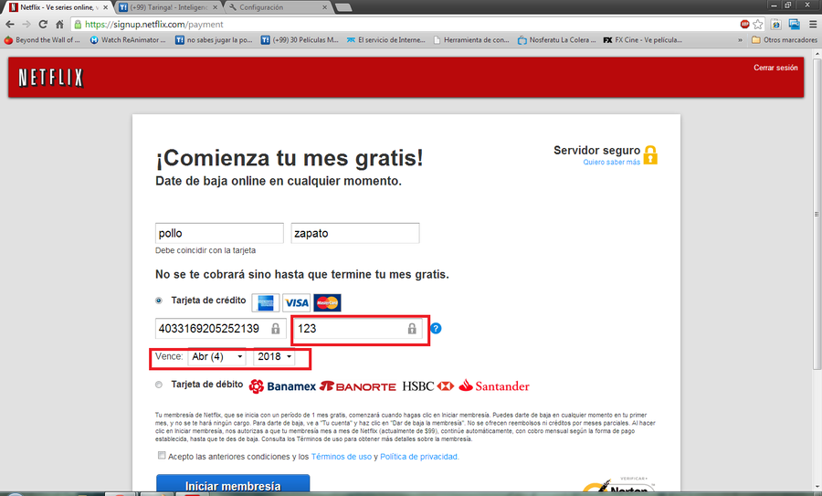 amazon pide numero seguridad tarjeta credito