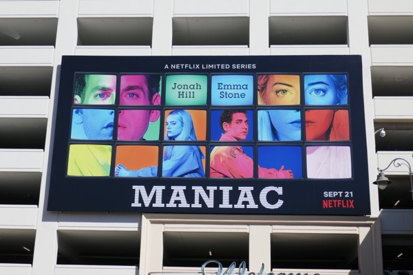 Maniac series launch billboard