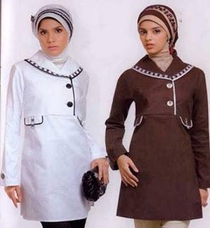 Ide baju muslim atasan kerja modis