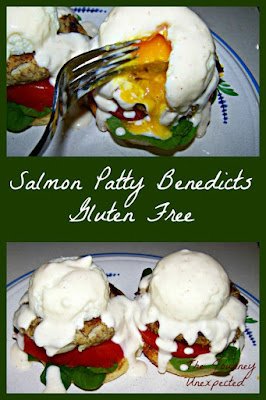 The Journey Unexpected: Salmon Patty Eggs Benedict ~ Gluten Free