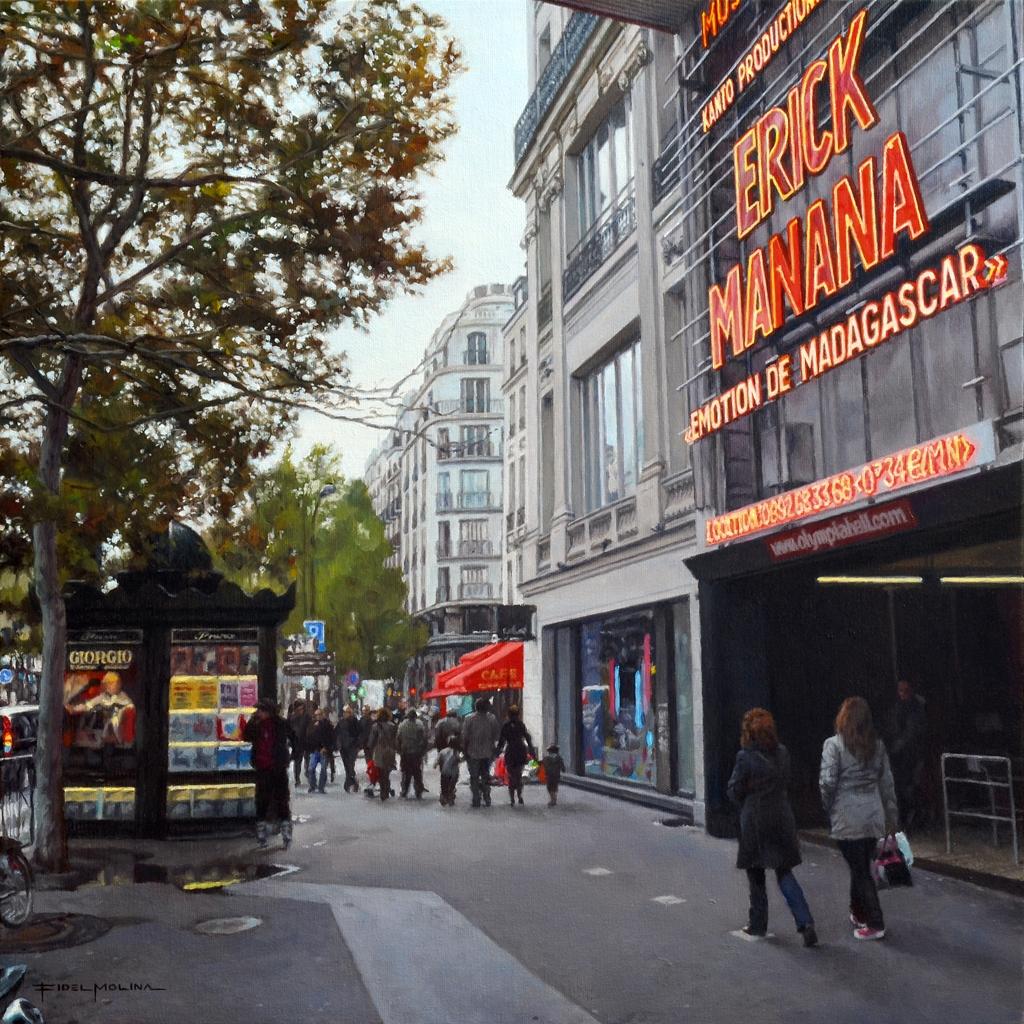 02-Por-el-Boulevard-des-Capucines-Fidel-Molina-Realistic-Paintings-of-Cities-Frozen-in-Time-www-designstack-co