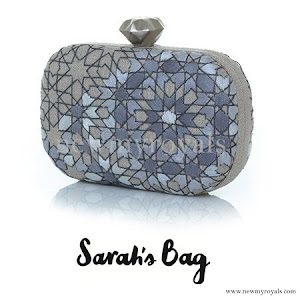 Crown Princess Mette Marit style Sarah's Bag Arabesque Silver Clutch