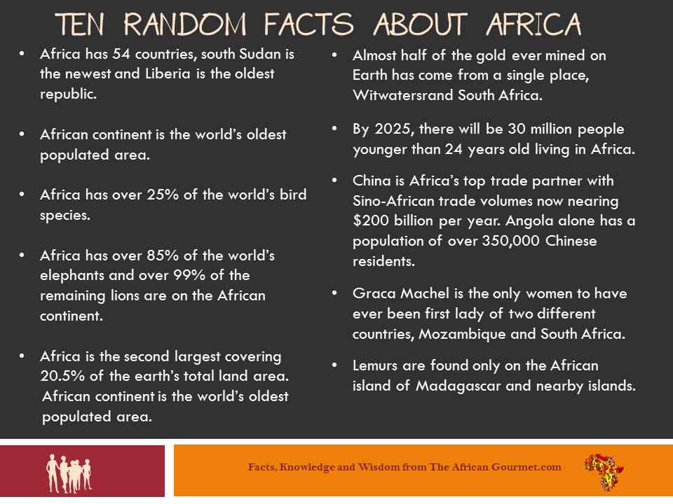 Your Brain Could Always Use Some Random Facts About Africa