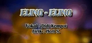 Lirik Lagu Eling Eling - Didi Kempot