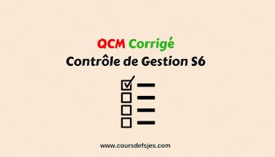 QCM Corrigé  contrôle de gestion S6