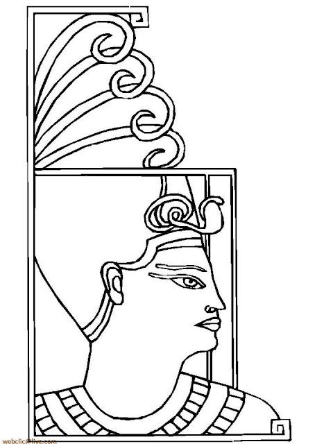 Desenhos para colorir do Antigo Egito