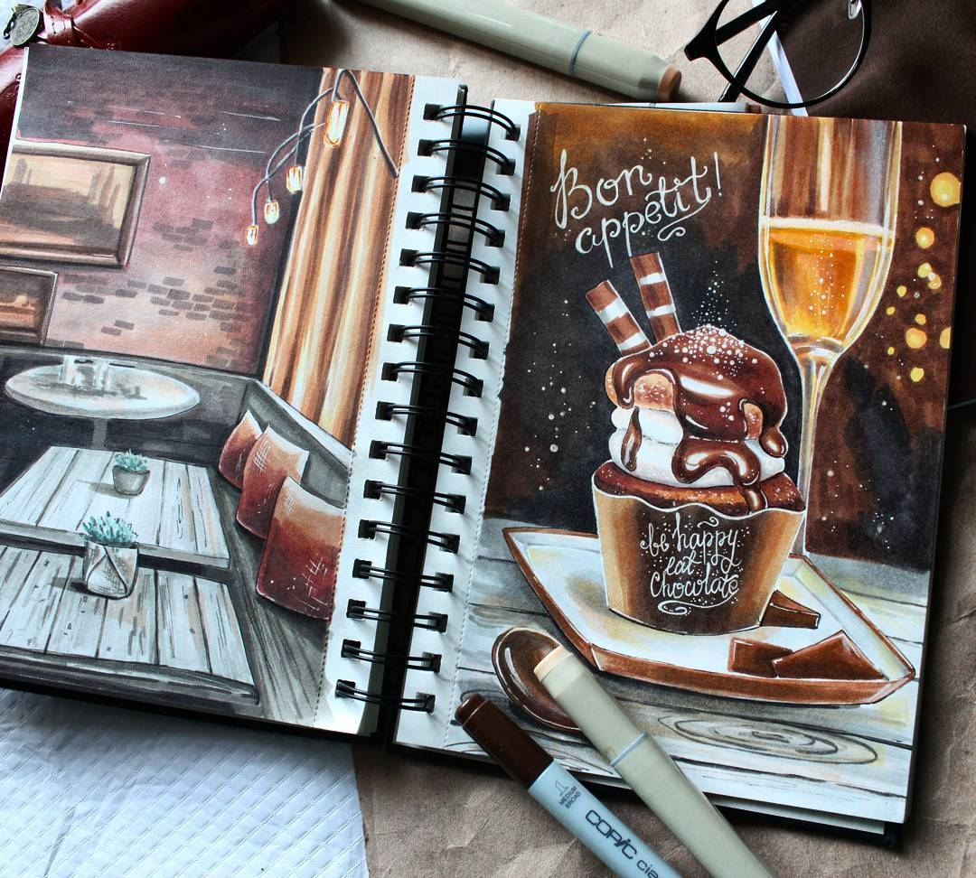 02-stepashkina-Cakes-Pastries-and-Drinks-Food-Art-Drawings-www-designstack-co