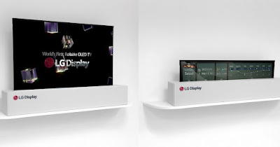 LG Display's 65-inch rollable OLED TV