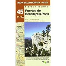 Puertos de Beceite , els Ports, Lo Port, Beseit,mapa excursionista