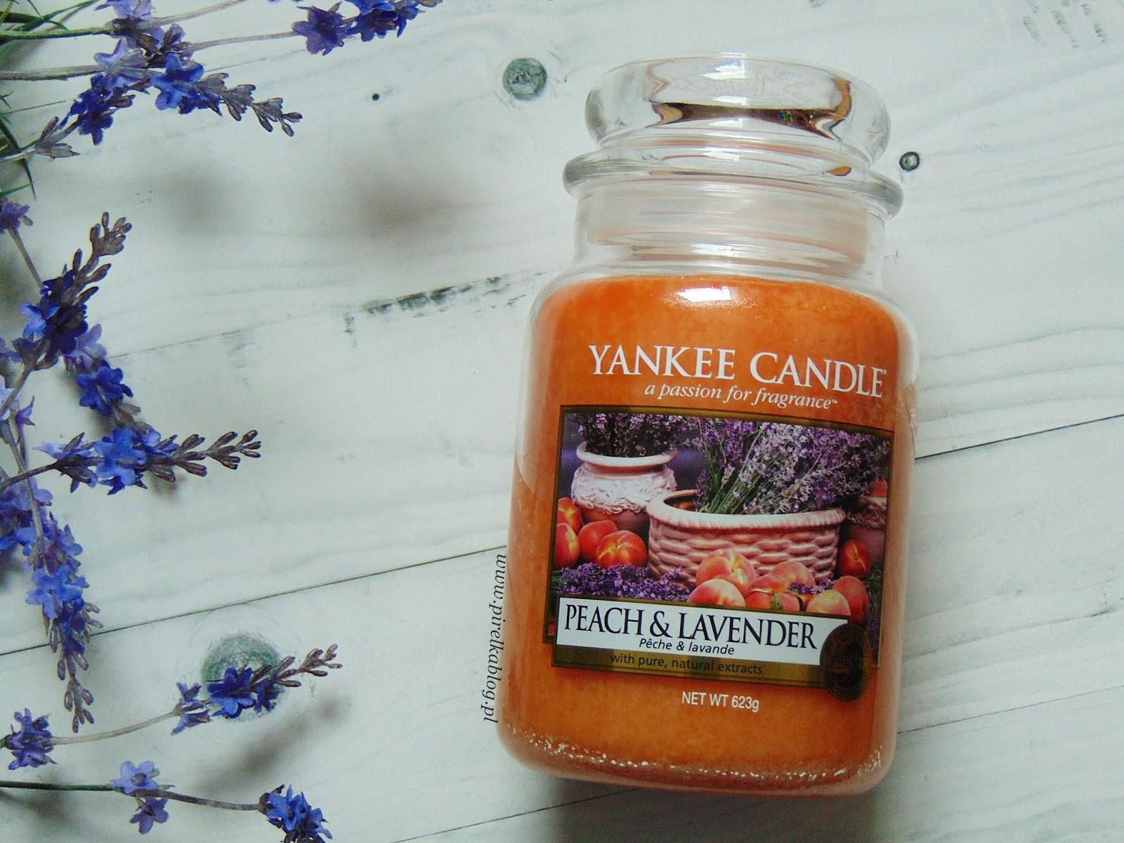 Świeca Yankee Candle 'Peach & Lavender'