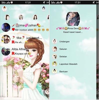 BBM Mod Umbrella Girl Versi 2.9.0.49 Apk