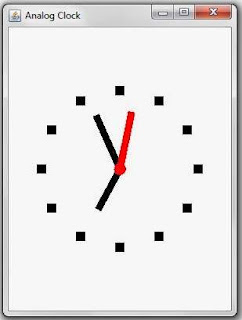 Analog Clock using Java - Java Source Code for Analog Clock