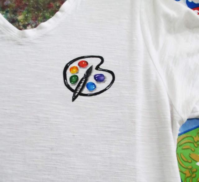 desenh paleta colorida pintura em tecido