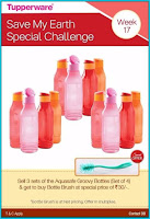 Aquasafe Groovy Bottle set of (4) Tupperware