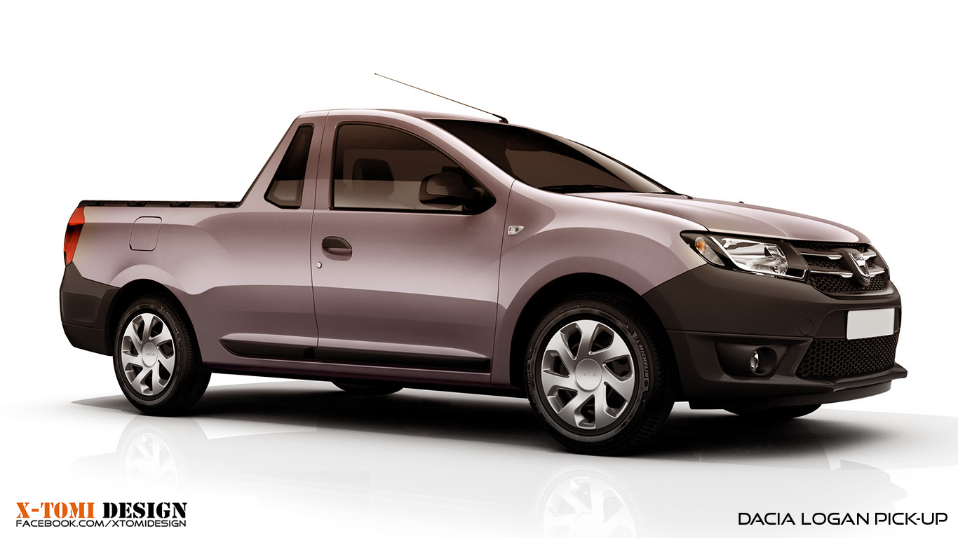 Dacia Pickup 2017 >> X-Tomi Design: Dacia Logan Pick-up, Logan VAN, Sandero VAN