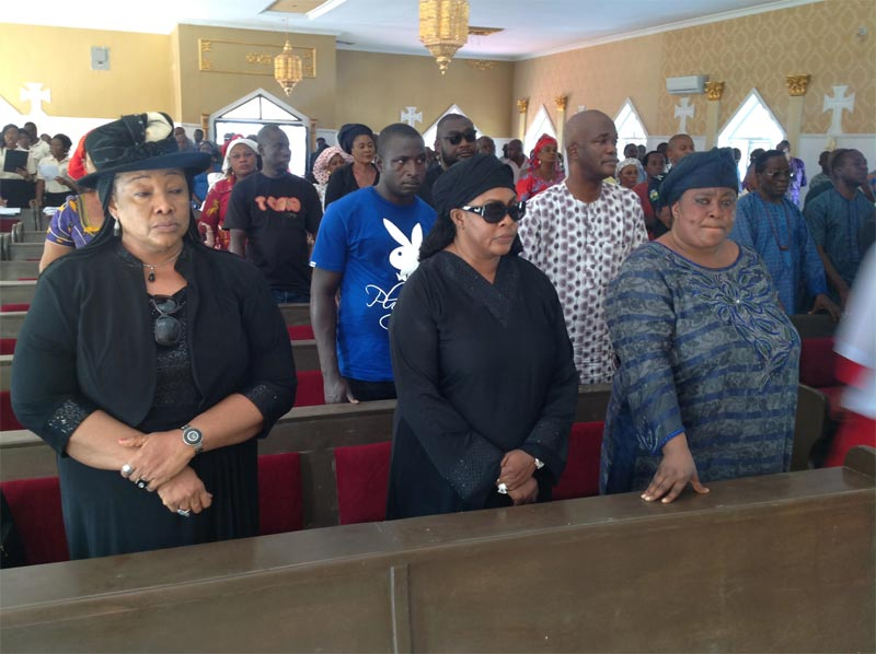 Photos from vigil mass of Stella Oduah's son Chinedu