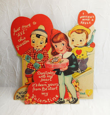 Cute Kids Valentines, lot of 3 cards