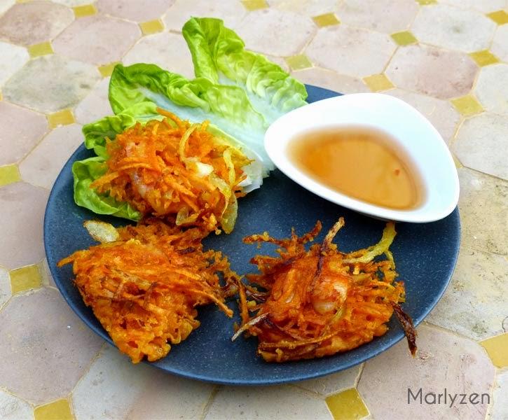 Croustillants de crevettes et patates douces (Bánh tôm chiên)