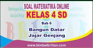Soal Matematika Online Kelas 4 SD Bab 6 Bangun Datar Jajar Genjang - Langsung Ada Nilainya