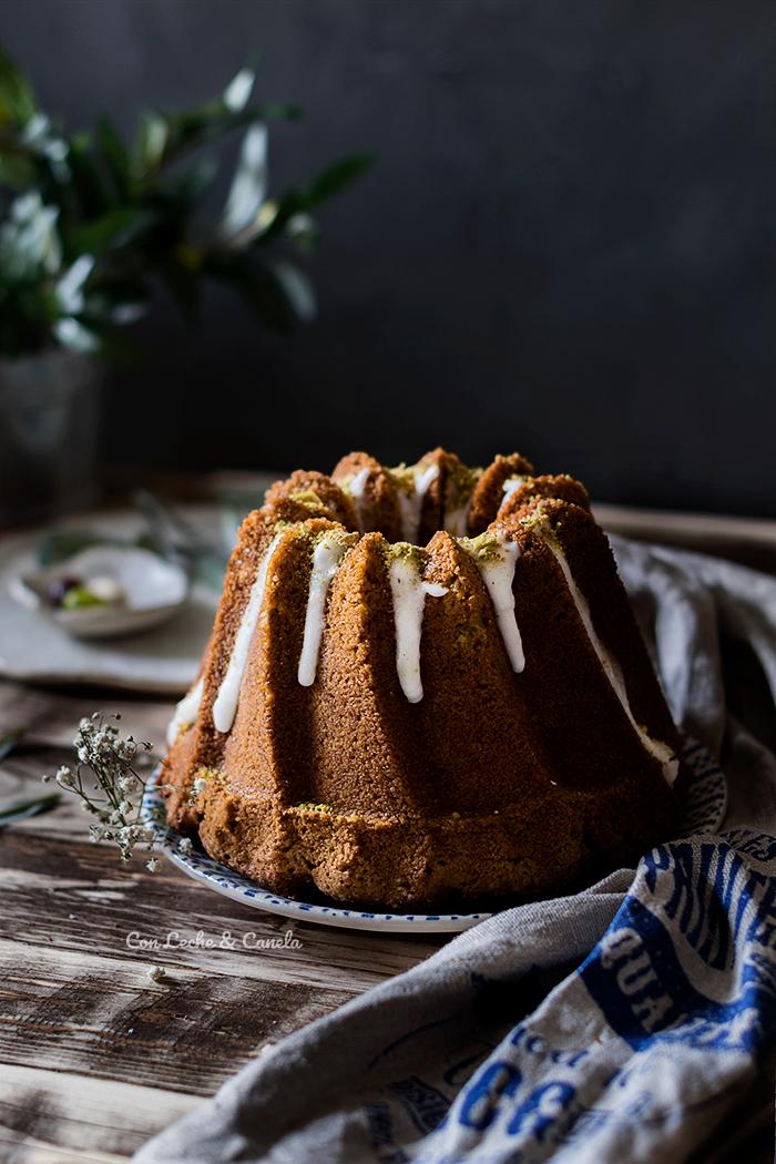 receta bundt cake pistacho limon y aceite de oliva