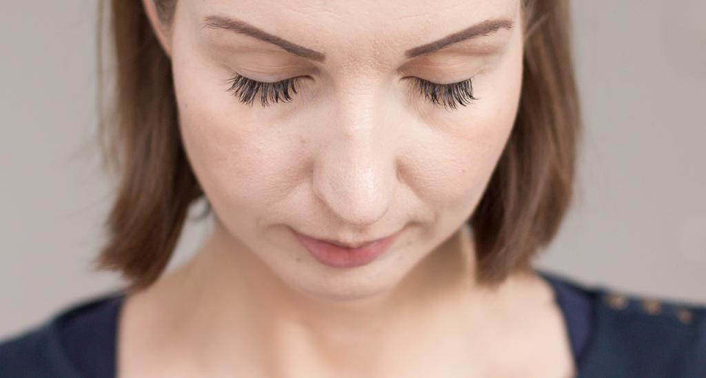 Wimpernverlaengerung Lash Extensions zwei Wochen getragen