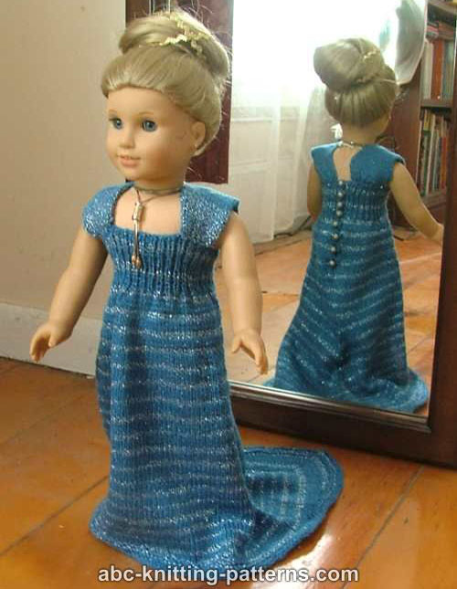 American Girl Doll Evening Dress with Train - Free Pattern