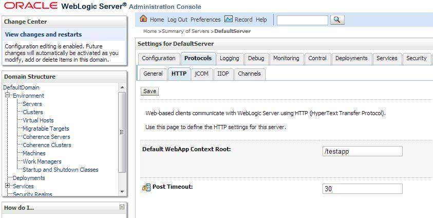 application context root weblogic
