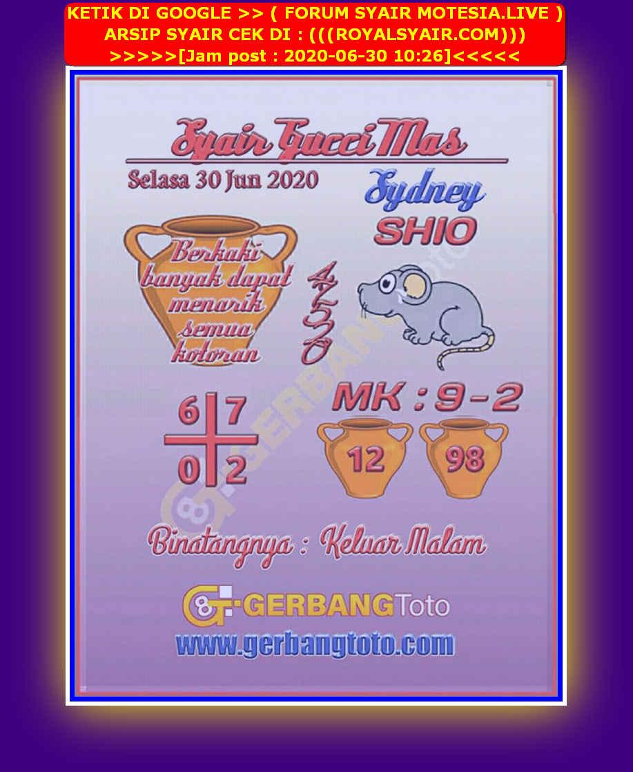 Kode syair Sydney Selasa 30 Juni 2020 29