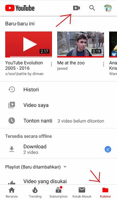 cara mengupload video ke youtube dengan handphone