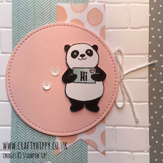 Learn how to make this gorgeous panda card using the Party Pandas stamp set from Stampin' Up!
