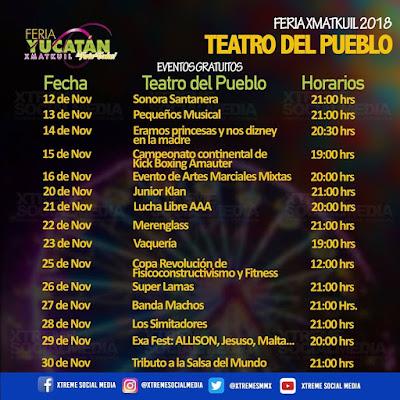 teatro del pueblo feria yucatán xmatkuil 2018