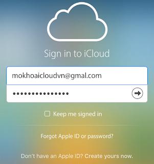 Đăng nhập iCloud trên Web