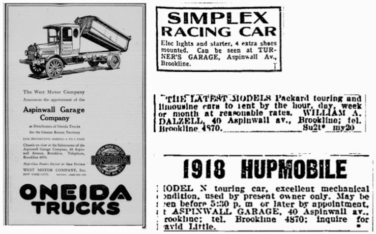 Ads for Turner's Garage