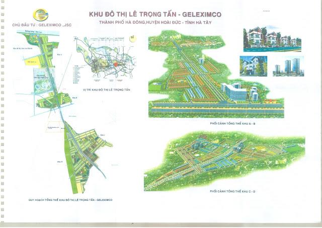 Toàn cảnh vị trí khu đô thị Geleximco Lê Trọng Tấn