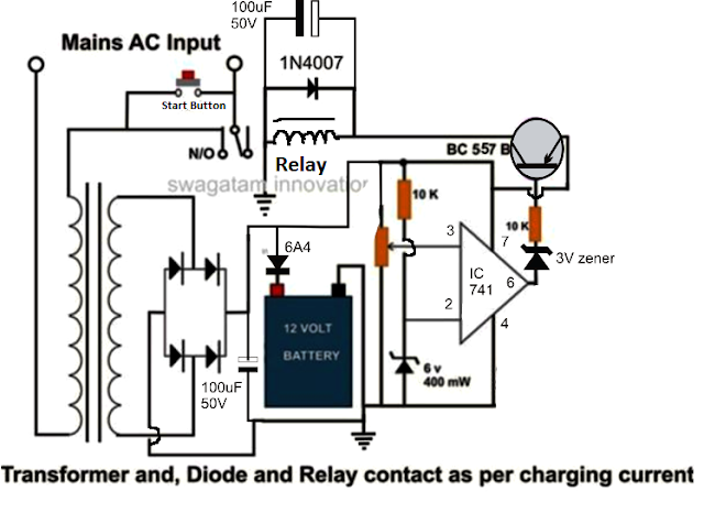 high current lead acid battery charger circuit electronic high current 100 to 200 amp automatic lead acid battery circuit diagram is shown below