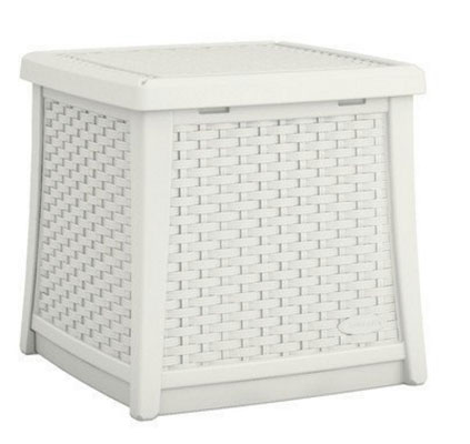 White Suncast Deck Storage Box, Backless Benches, Deck Boxes, Furniture, Outdoor Furniture, Patio Furniture, Storage Deck Box, White Deck Box, White Deck Boxes, Wicker Patio, Wicker White Deck Boxes,