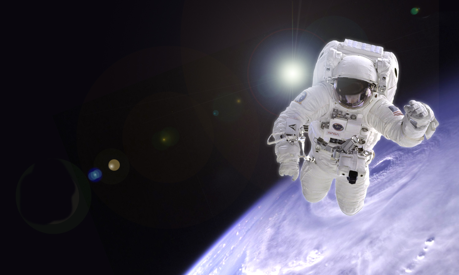 an astronaut floating in space - photo #23