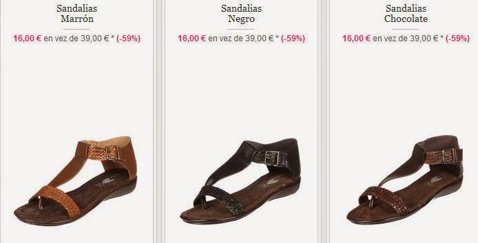 Sandalias planas de Huran por 16 euros