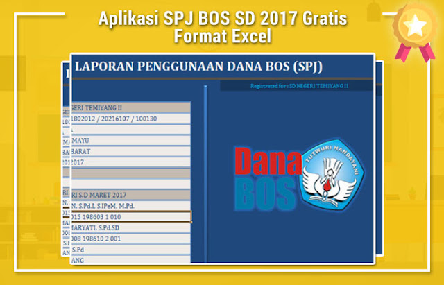 Aplikasi SPJ BOS SD 2017 Gratis Format Excel