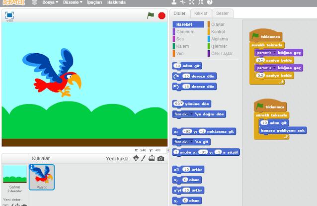 Scratch ile hareket ettirme görseli