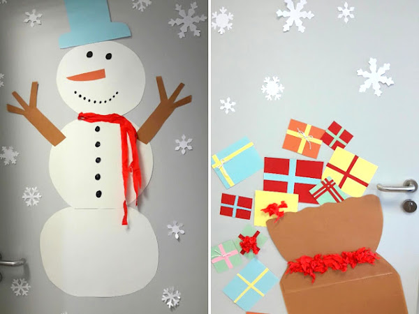 Christmas door decoration - DIY