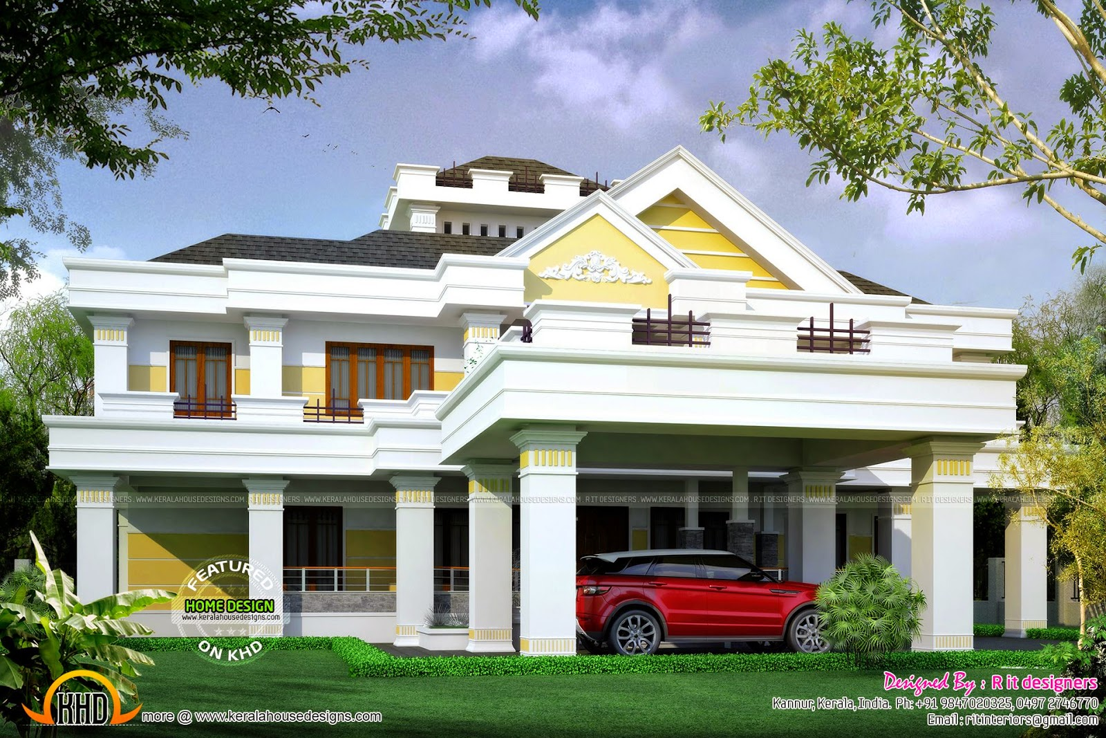 January 2015 kerala home design and floor plans for Indian style bungalow designs