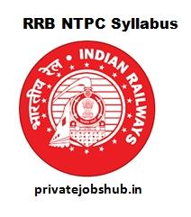 RRB NTPC Syllabus