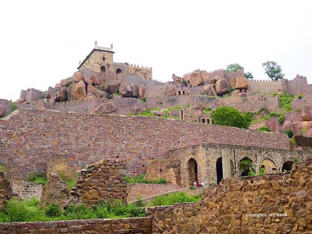 Top Part View from Rani Mahal, Golkonda Fort, Hyderabad