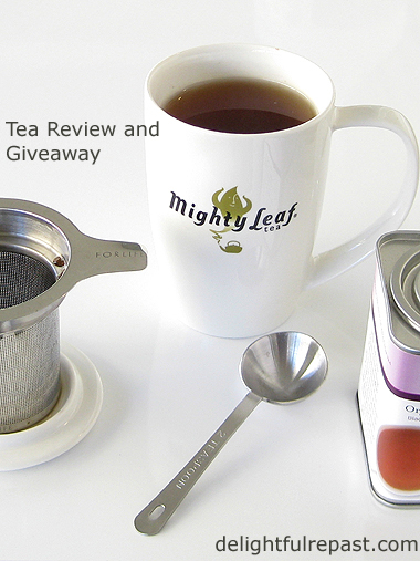 Mighty Leaf Tea Review and Giveaway / www.delightfulrepast.com