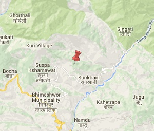 Earthquake aftershock map of Dolakha, NEpal