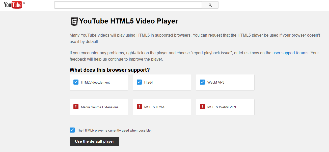 http://www.geekyharsha.in/2015/02/youtube-now-uses-html5-instead-of-flash.html#