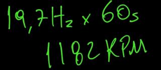 Multiplicando a frequência encontrada por 60