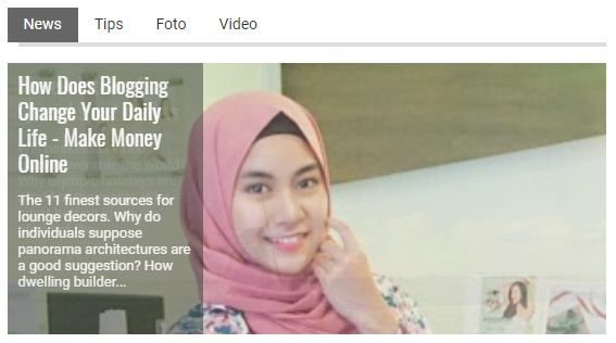 Cara Memasang Tab Slider Featured Post di Blogger