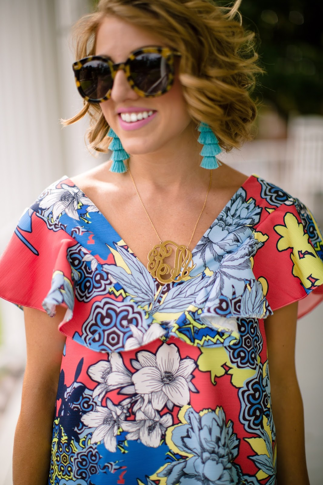 Monogram Necklace - Click through to see more on Something Delightful Blog!